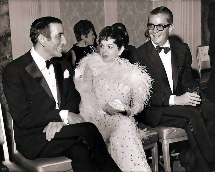 Judy Galrand at Tay Sachs' dinner honoring Tony Bennett 1967