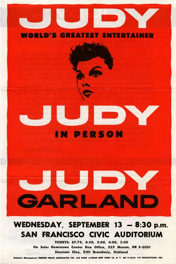 Judy Garland at San Francisco's Civic Auditorium