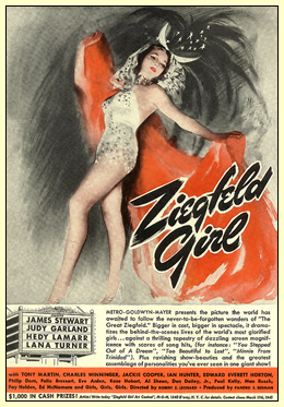 "Magazine Ad for ""Ziegfeld Girl"" starring Judy Garland"
